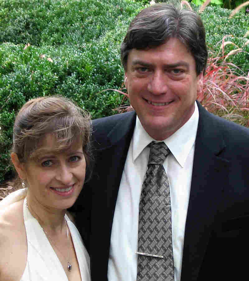 The Fletchers on their wedding day, Oct. 10, 2009. On that day, MaryAnn wore a silver heart necklace that Jim had given her on her 16th birthday, 32 years earlier.