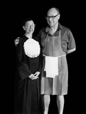 Justice Ruth Bader Ginsburg with her late husband, Marty Ginsburg, an accomplished amateur chef.