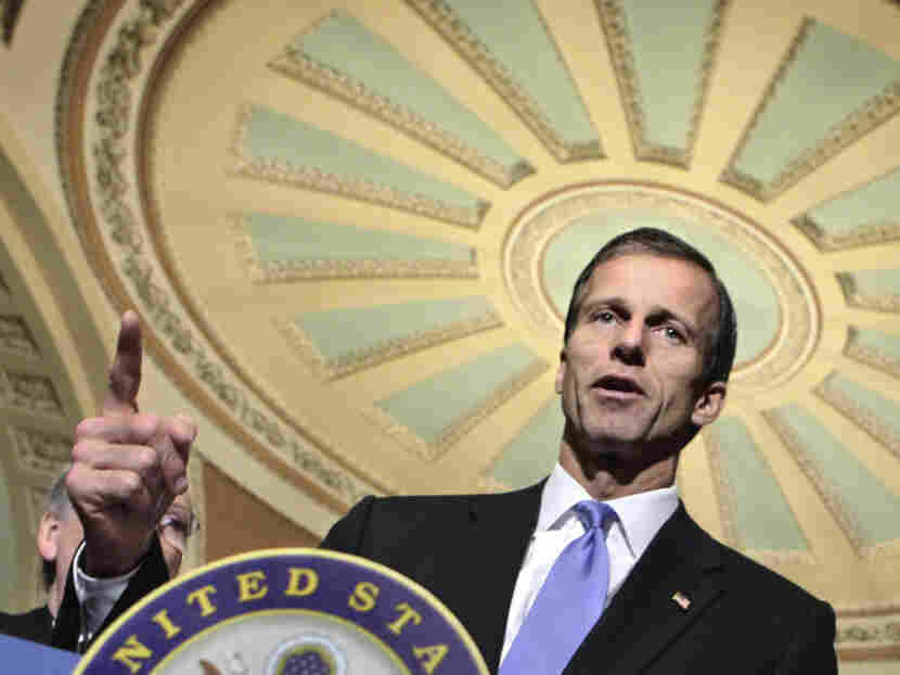 "Republican Sen. John Thune of South Dakota says the ""millionaires surtax"" would hurt small-business owners' ability to hire new workers."