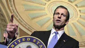 """Republican Sen. John Thune of South Dakota says the """"millionaires surtax"""" would hurt small-business owners' ability to hire new workers."""