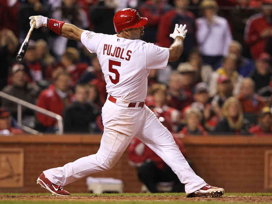 Albert Pujols, then of the St. Louis Cardinals, during the World Series in Octobe