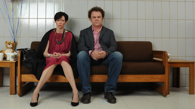 Scenes From A Marriage: Eva (Tilda Swinton) has trouble convincing her husband, Franklin (John C. Reilly), that their son may be dangerously disturbed — until it's too late.