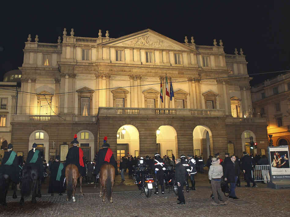 Milan's La Scala on opening night: December 7, 2011.