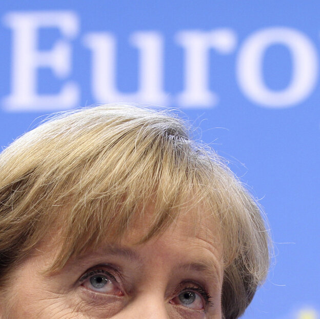 German Chancellor Angela Merkel at the EU summit Friday.