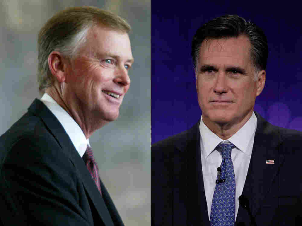 Do endorsements help or hurt? Former Vice President Dan Quayle (left) is backing GOP hopeful Mitt Romney in his campaign for the presidency.