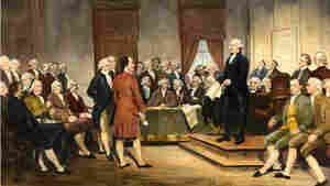 Junius Brutus Stearns' 1856 painting George Washington Addressing the Constitutional Convention.