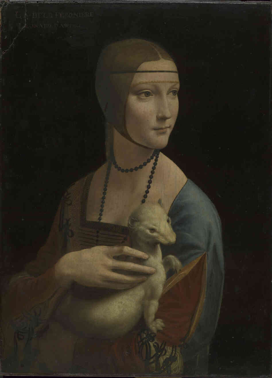 "Portrait of Cecilia Gallerani (""The Lady with an Ermine"") by Leonardo da Vinci, about 1489–90."