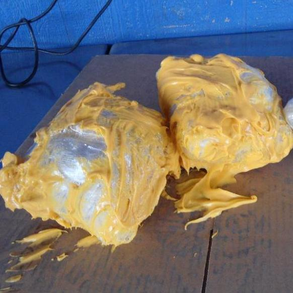 The 7 pounds of methamphetamine found this week in cans of food.