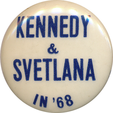 Somehow I suspect this was not a pro-RFK button.