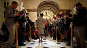House Minority Leader Rep. Nancy Pelosi talks to reporters in the U.S. Capitol on Friday. Pelosi was critical of Speaker John Boehner and the GOP leadership for recessing the House without passing extensions of the payroll tax cut and unemployment benefits, both set to expire at the end of the year.