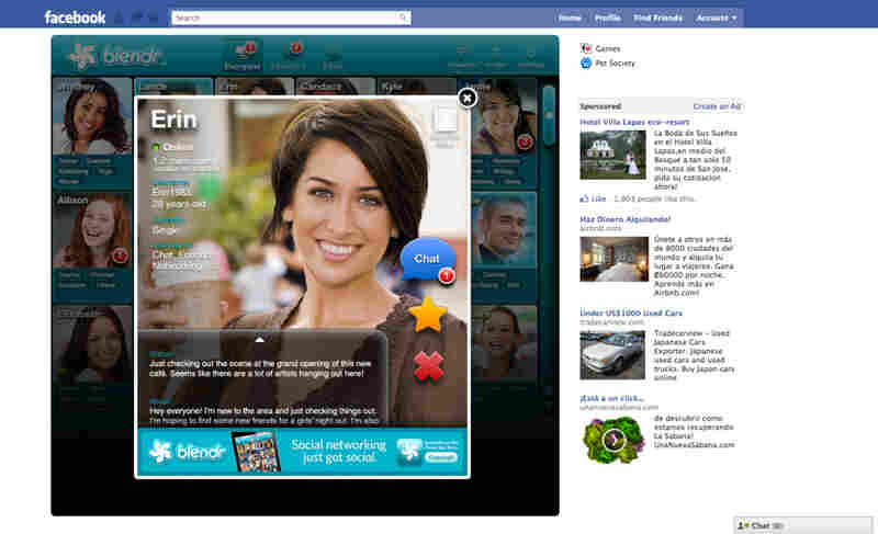 Blendr, available for iOS devices and as a Facebook app, hopes to attract a new set of users interested in meeting like-minded people nearby.