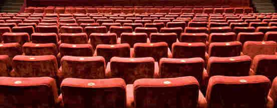 Empty theater seats.