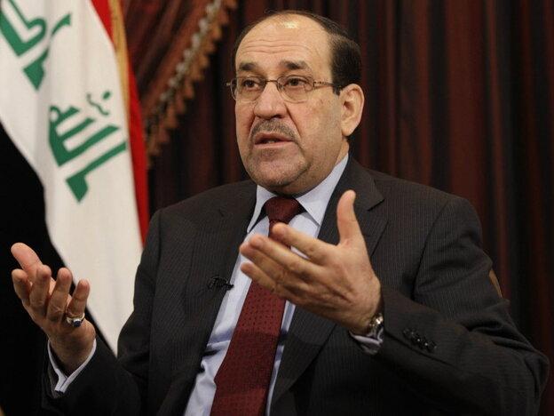 Iraqi Prime Minister Nouri al-Maliki.