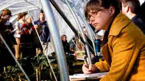 Maryland farmer Josie Johnson listens to a lecture on extending the farming season using caterpillar tunnels. The lesson was part of a conference for young farmers held in Tarrytown N.Y., in early December.