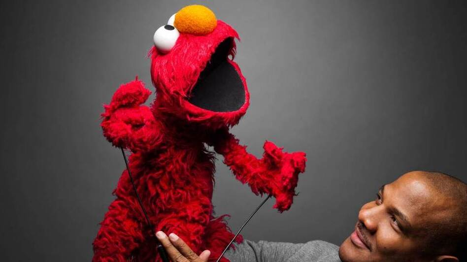Elmo and Kevin Clash have been working together for more than 20 years. Clash has also performed in Labyrinth, Muppets from Space, Follow that Bird and Teenage Mutant Ninja Turtles.  (Photo courtesy of Scott McDermott/Being Elmo)