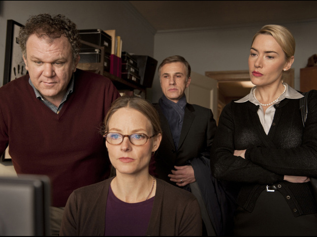<strong>What Happened Here:</strong> Two couples (from left, John C. Reilly,  Jodie Foster, Christoph Waltz and Kate Winslet) reconstruct a playground incident that ended in bloodshed.