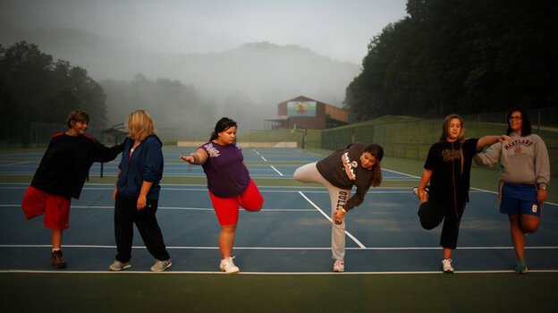 Located in the North Carolina mountains, Wellspring Academy is a boarding school for overweight teenagers. In addition to their regular classes, students learn to control their weight through a healthful diet, physical activity and counseling. (Travis Dove For NPR)