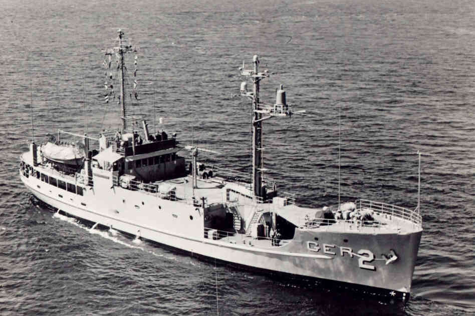 The USS Pueblo, seen in this undated photo, was captured while on a surveillance mission Jan. 22, 1968, by North Korean patrol boats.