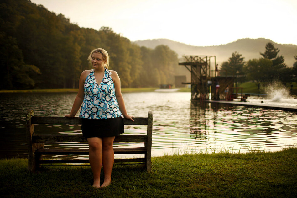 Haley Humphrey, 15, from Athens, Ala., at Wellspring in August. (Travis Dove for NPR)