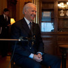 Vice President Joe Biden is interviewed by NPR's Robert Siegel in the Secretary of War Suite of the Eisenhower Executive Office Building, Dec. 13.