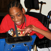 Tres Whitlock types on the DynaVox tablet that serves as his voice. Whitlock, 17, has cerebral palsy and can't speak on his own. He is trying to enroll in a Hillsborough County charter school, but has yet to enroll because of concerns about the therapy and services he needs.