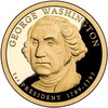 The $1 George Washington coin.