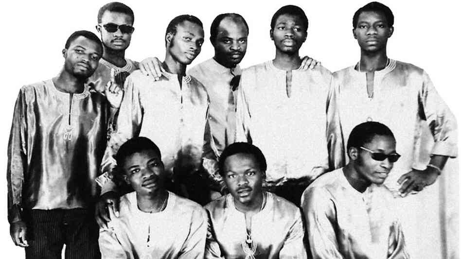 El Rego, the godfather of Benin funk, and his band The Commandos.