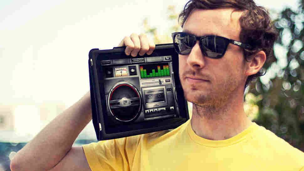 Wondering how we listen to music in 2011? There's an app for that. (One of them, pictured, is called Jamboxx.)