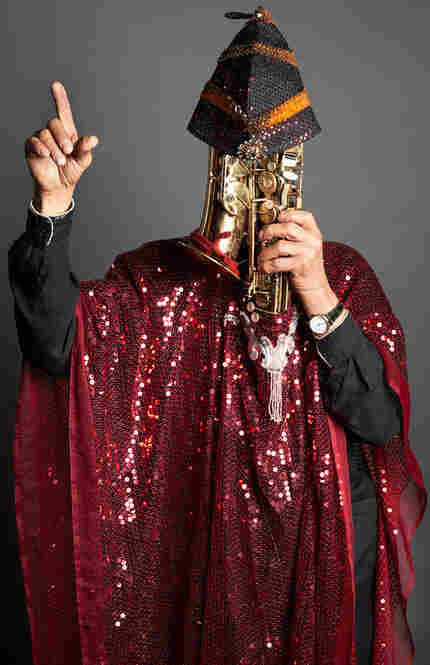 Marshall Allen with alto saxophone in New York, N.Y., 2011.