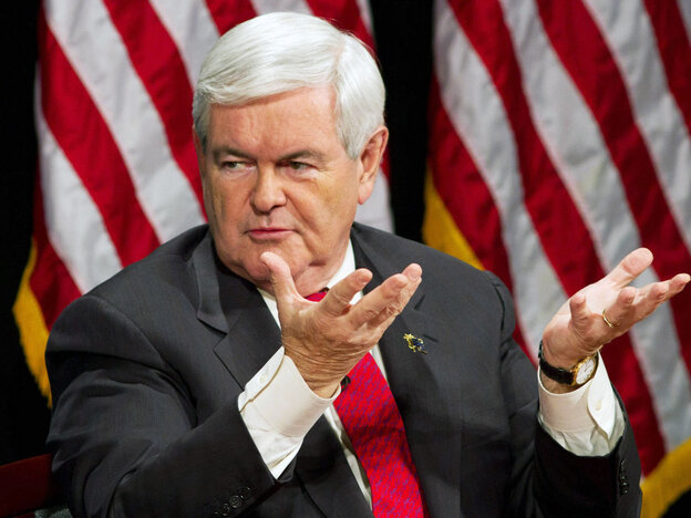 Newt Gingrich in Manchester, NH, Dec. 12, 2011.