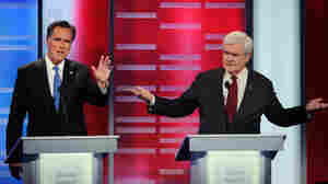 Mitt Romney and Newt Gingrich face off at the ABC News GOP Presidential Debate on Dec. 10.