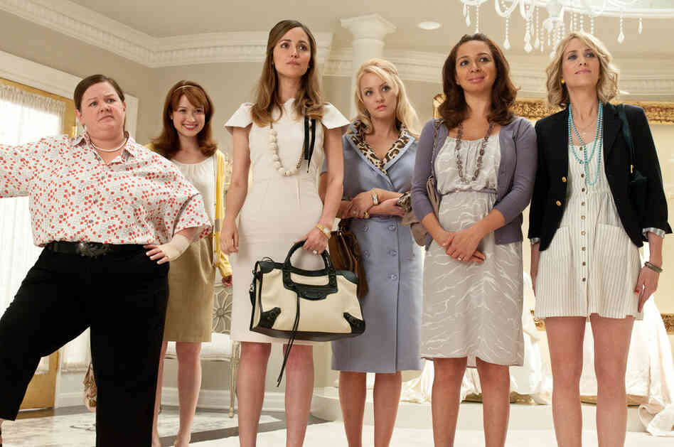 The Washington, D.C., Area Film Critics Association named (from left) Melissa McCarthy, Ellie Kemper, Rose Byrne, Wendi McLendon-Covey, Maya Rudolph and Kristen Wiig as the Best Acting Ensemble for their roles in Bridesmaids.