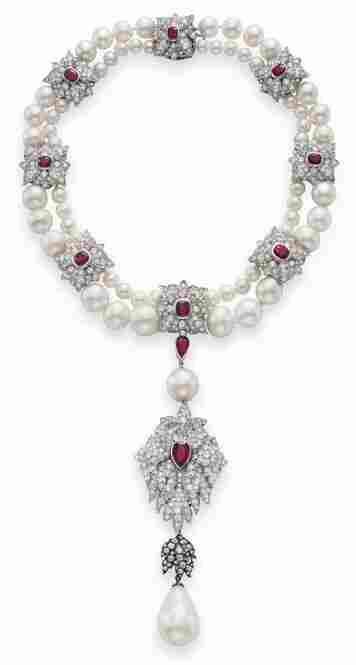 With an estimated value of $2 to $3 million, Taylor commissioned Cartier to design the mount for the famed pear-shaped pearl, La Peregrina. Another gift from Burton, the pearl was discovered in the 1500s and was once one of Spain's crown jewels.