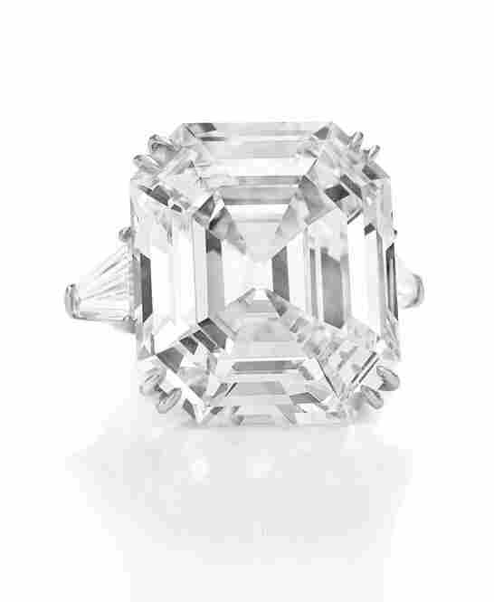 """Known as """"The Elizabeth Taylor Diamond,"""" this 33.19-carat diamond was a gift from Richard Burton in May 1968. It's estimated to be worth between $2.5 and 3.5 million."""