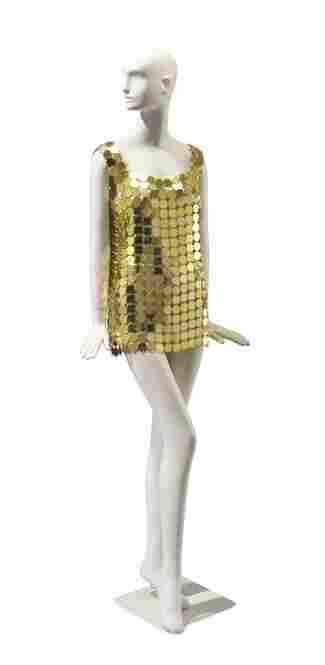 This tunic from the late 1970s is made out of linked metal disks and worth about $1,000.