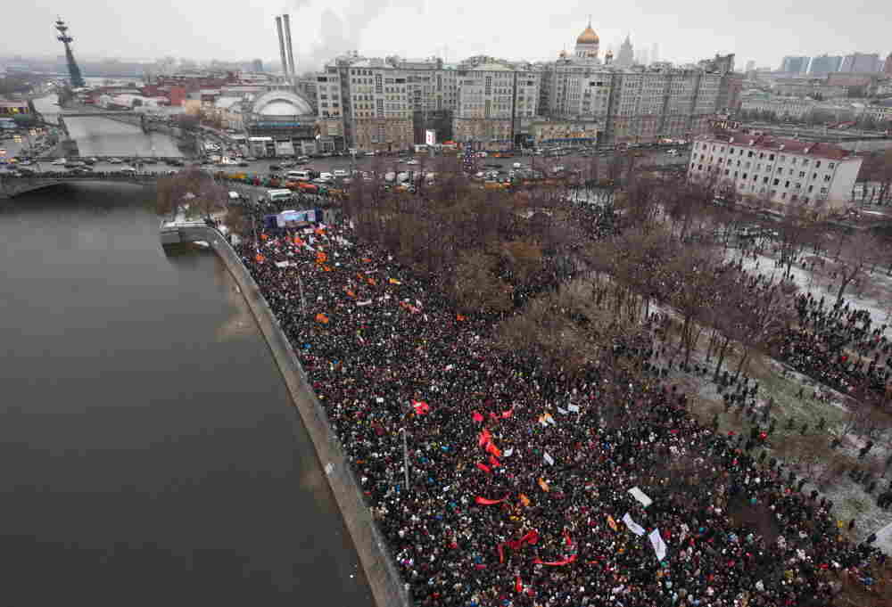 Tens of thousands of protesters turned out  in Moscow and other major cities across Russia in open defiance to strongman Vladimir Putin's 12-year rule.