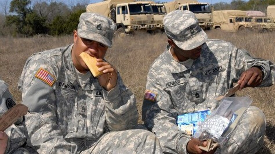 The shelf-stable pocket sandwich gives soldiers a portable ration that they can eat on the go. (U.S. Army)