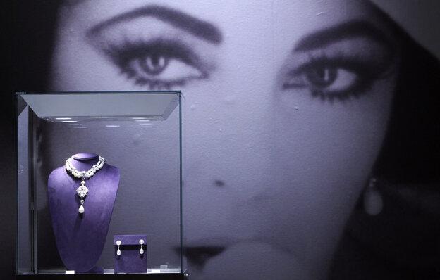 Elizabeth Taylor's famed La Peregrina necklace sold for $11.8 million dollars.