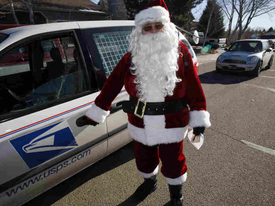 "If the Post Office is part of the ""war on Christmas,"" someone should tell him: Doug Fischer, a letter carrier in Aurora, Colo., during the 2008 holiday season."