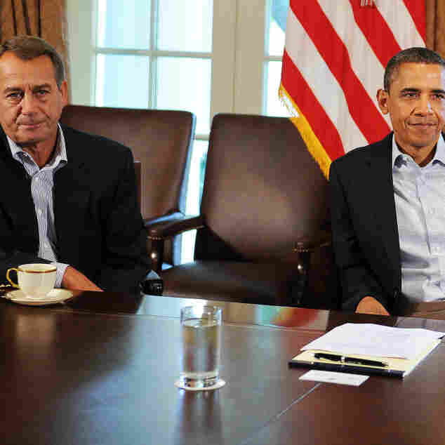 House Speaker John Boehner (R-Ohio) and President Obama in July, during the negotiations over raising the federal debt ceiling and reducing future federal deficits. Americans say they want pragmatic leaders who will worth together.