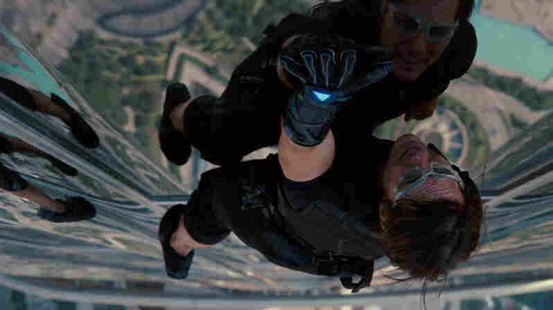 Ethan Hunt (Tom Cruise) and his Impossible Mission Force go to great heights to combat the threat of a nuclear confrontation in Mission: Impossible — Ghost Protocol.