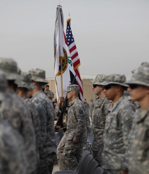 u s military lowers flag marking end of iraq war the two way npr