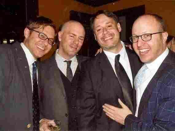 The four founders of the Idelsohn Society, left to right: Josh Kun, Courtney Holt, David Katznelson, Roger Bennett.