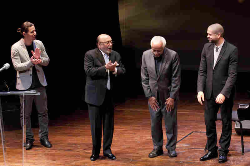 L-R: Alfredo Rodriguez, Eddie Palmieri, Barry Harris, Jason Moran.