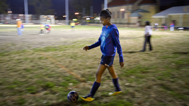 Alexandria Johnson got involved with the Anderson Monarchs soccer team when her mother was looking for an affordable way to keep her active. (WHYY)