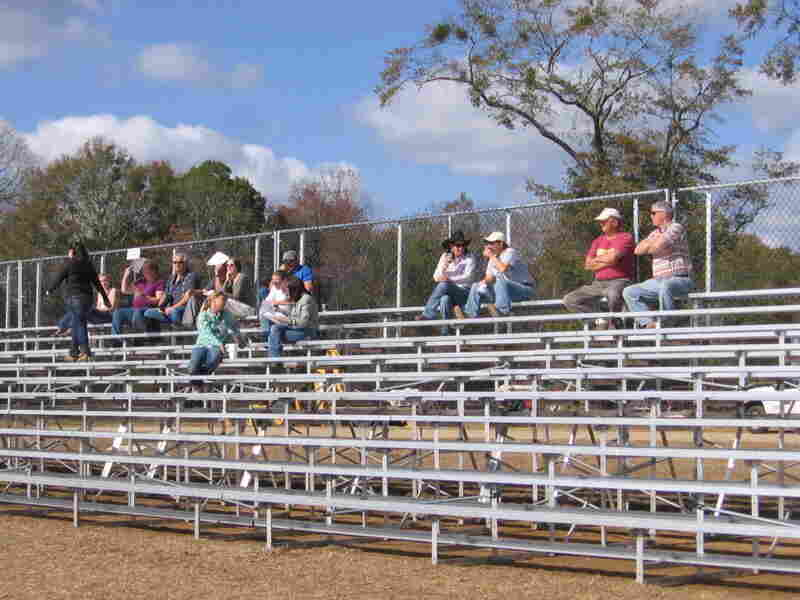 Only a sparse crowd turned up to watch a recent barrel race at Creek Entertainment Gretna, which  also offers casino poker.