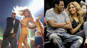 Jay-Z and Beyonce in 2003 and 2011, aging well.