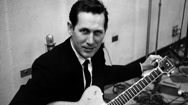 Chet Atkins at RCA's Studio B in the 1960s. (Courtesy of the Country Music Hall of Fame)