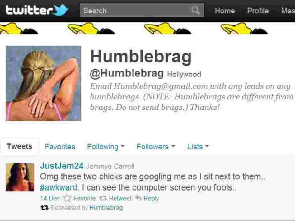"""Humble brag"" is linguist Ben Zimmer's personal favorite for 2011 Â word of the year."