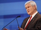 Republican presidential candidate former House Speaker Newt Gingrich speaks during a Republican presidential debate in Sioux City, Iowa, Thursday, Dec. 15, 2011.